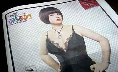Kelly Osbourne fronts Independent article on digital retouching