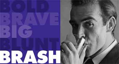 Sean Connery on the Brash preview page last night