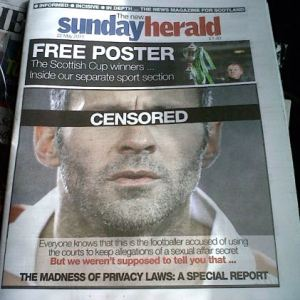Sunday Herald Giggs front page at Indymedia.org.uk