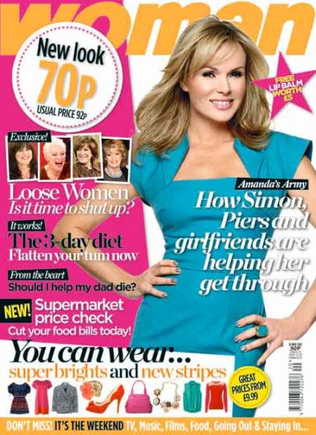 Woman 2011 new look Amanda Holden cover