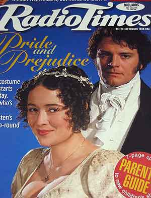 Radio Times Colin Firth Pride and Prejudice Jennifer Earle
