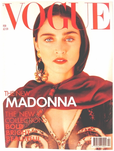 Madonna on the cover of British Vogue
