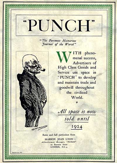 Marion Jean Lyon was hard of advertising sales for Punch in 1923