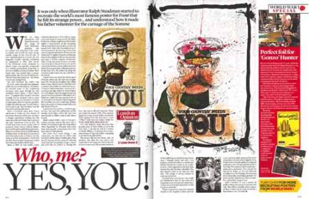 Daily Mail's Event magazine with its Ralph Steadman article