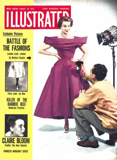 Barbara Goalen on the cover of the general interest weekly Illustrated in 1953