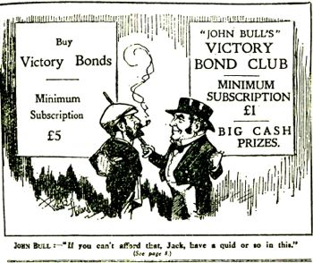 Bottomley's Victory Bond club advertised in John Bull
