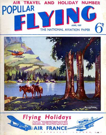 Popular Flying magazine cover June 1937