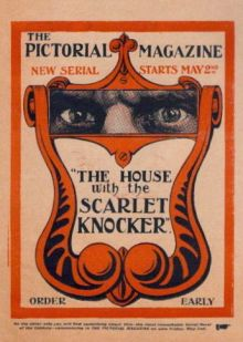 A letterpress flyer for the latest serial in Pictorial Magazine - could this 1902 image have sparked Alfred Leete's imagination?