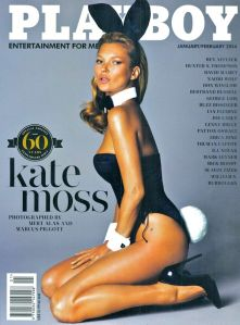 Kate Moss 2014 Playboy cover as it appeared in the UK