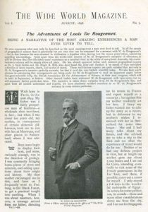 The Adventures of Louis de Rougement in Wide World Magazine August 1898