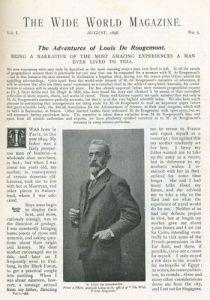 The Adventures of Louis de Rougement in Wide World Magazine August 1898