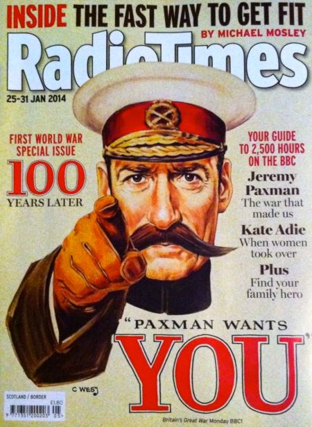 Jeremy Paxman as Lord Kitchener for the Radio Times