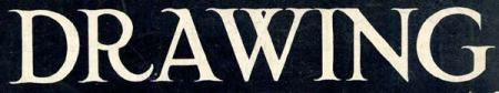 Hand-drawn title for Drawing magazine, October 1915