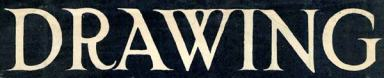Hand-drawn title for Drawing magazine, February 1916