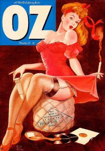 Peter Hack-Brookes cover for Oz from September 1971 - a copy from a US magazine cover from 1949