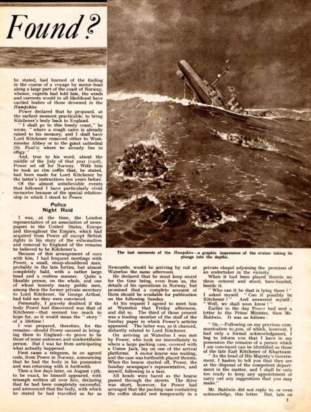 Right-hand page of Pictorial Weekly article