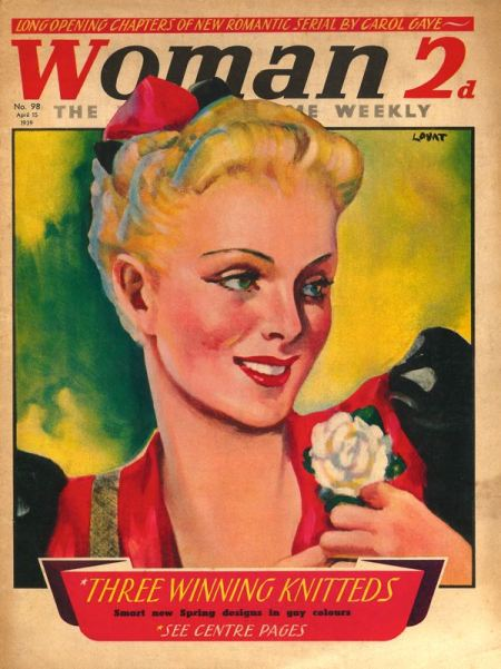 Woman magazine from Odhams just three-and-a-half months before the outbreak of World War 2 with an illustration by 'Lovat'