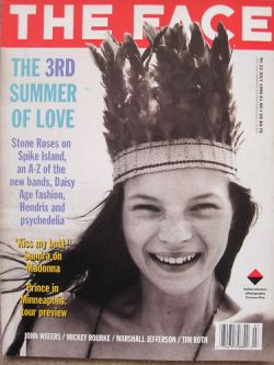 Kate Moss in Corinne Day photograph on cover of the Face magazine in July 1990