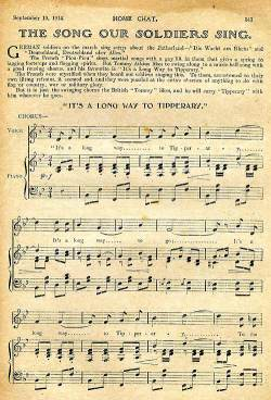 'It's a Long Way to Tipperary' is identified as the Tommies' favourite in this September 1914 article from Home Chat