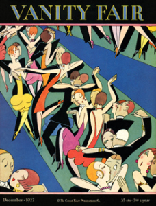 Jazz Age dancers by AH Fish on the cover of Vanity fair, December 1927