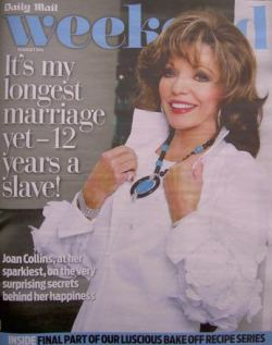 Joan Collins talks about married life as a slave in the Daily Mail's Weekend supplement  - 30 August 2014