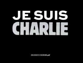 Je Suis Charlie - Charlie Hebdo's website after the murderous attack on its Paris office