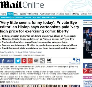 Private Eye editor Ian Hislop quoted in the Daily Mail