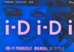 The fifth issue of i-D with a manipulated image of Princess Diana as the first winking subject and cover lines that pun on i-D, Di and DIY