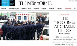The New Yorker's reaction to the attack on the Charlie Hebdo offices