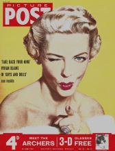 Vivian Blaine from the London stage adaption of the musical Guys and Dolls on the cover of Picture Post in 1953