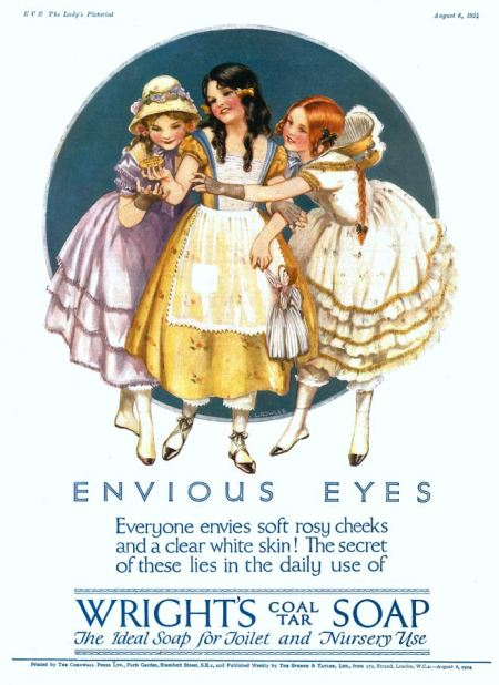 Advert for Wright's Coal Tar Soap by Lilian Rowles on the back cover of Eve magazine