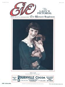 Eve magazine cover with a portrait of actress Sylvia Leslie (6 August  1924)