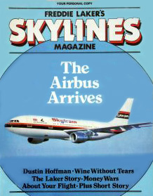 Freddie Laker's Skylines magazine cover from 1981