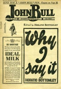 John Bull in 1917 - the magazine was used as a promotional tool for Horatio Bottomley's financial schemes