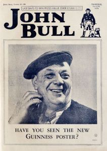 Guinness made early use of a photograph for a magazine cover advert on this 1934 issue of John Bull