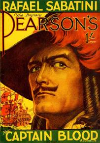 Raphael Sabatini's Captain Blood brought to visual life on the cover of Pearson's Magazine (1930) by Joseph Greenup