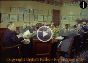 Punch table in 1962 from British Pathe film