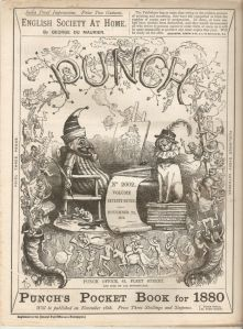 Punch magazine cover from 1879 (November 22). This cover shows the Dickie Bird cover that was used into the 1950s