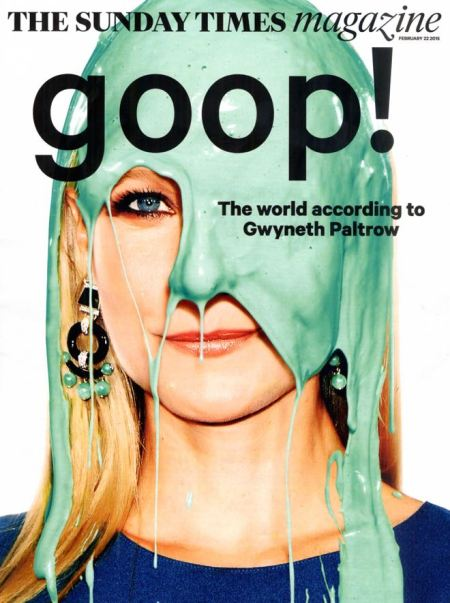 Gwyneth Paltrow is digitally gooped for the Sunday Times Magazine (22 February 2015)