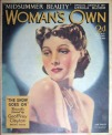 Woman's Own liked clean cover designs in the 1930s with few cover lines - but notice Ursula Bloom promoted her for a special article (30 July 1938)