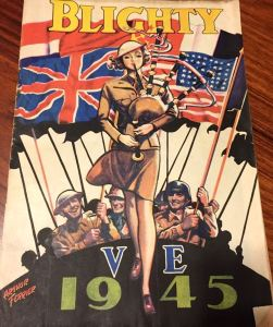 A rare colour cover by Arthur Ferrier to help Blighty magazine celebrate VE Day in 1945