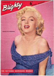 1956 copy of Blighty with Marilyn Monroe cover