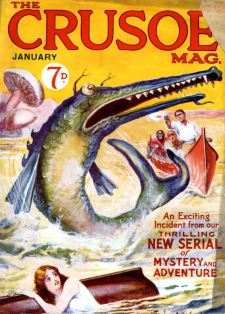 A colour cover for Crusoe magazine of January 1925