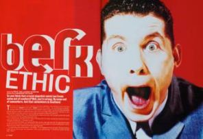 An in-your-face spread from Loaded in May 1995