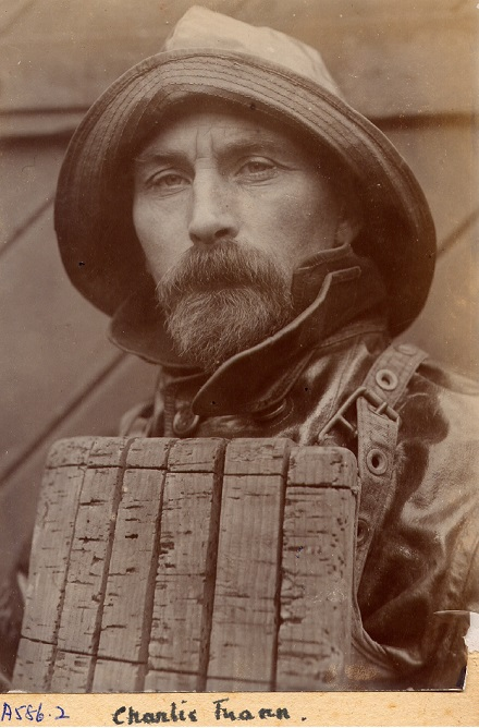 The original photograph of lifeboatman Charlie Mann used for the Quivermagazine  cover is held by Aldeburgh Museum