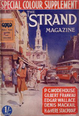Edgar Wallace listed as one of the main fiction writers on the cover of The Strand magazine in 1930 (June)