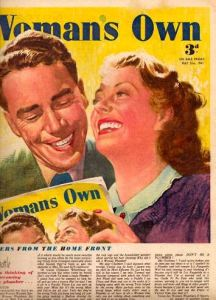 Another fully self-referential cover from Woman's Own in 1943
