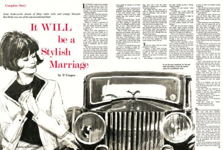 Harry Lindfield drawing for Annabel magazine in 1966