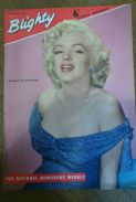 Marilyn Monroe on the cover of Blighty from 1956