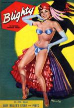 Blighty pin-up cover for the popular men's weekly by MB Tompkins in 1958 (16 August)